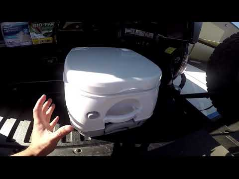 How to use a portable toilet