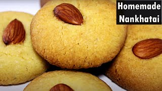Nankhatai Recipe | Eggless Easy Cookies Recipe | Indian Bakery Biscuits Recipe | Kanak