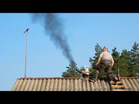 Полезные советы  Чистка дымохода  в деревенском  доме  Chimney cleaning