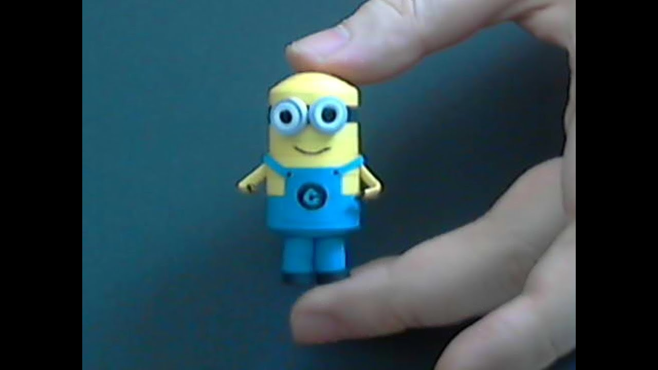 How to make 3d origami 2 eye Minion part1 - YouTube