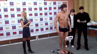 Боксер Марат Кулумбегов - взвешивание в Запорожье