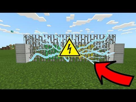 КАК СДЕЛАТЬ ЭЛЕКТРИЧЕСКИЙ ЗАБОР в Minecraft PE 1.1.0.9