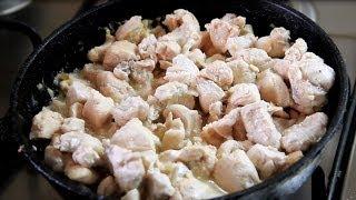 Филе курицы в сметанном соусе