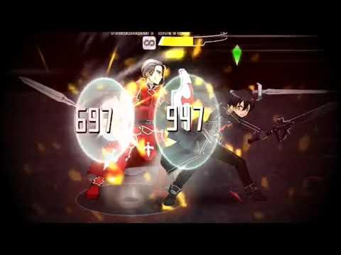 Sword Art Online Memory Defrag - Kirito Vs Heathcliff ~ Sacred Swords Surface!