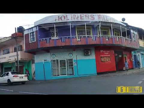DRIVING - PORT OF SPAIN StrEETS AND GHETTOS TRINIDAD 4k