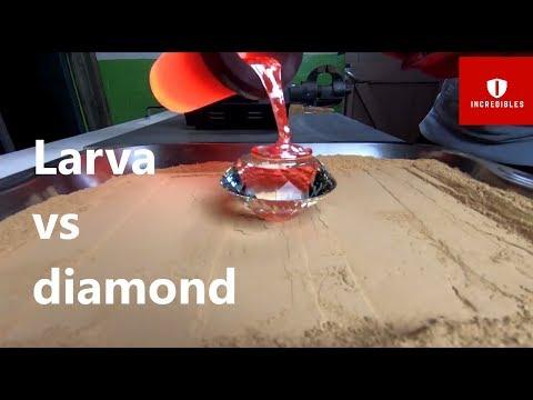 incredible experiment you need to see. Larva vs Diamond.