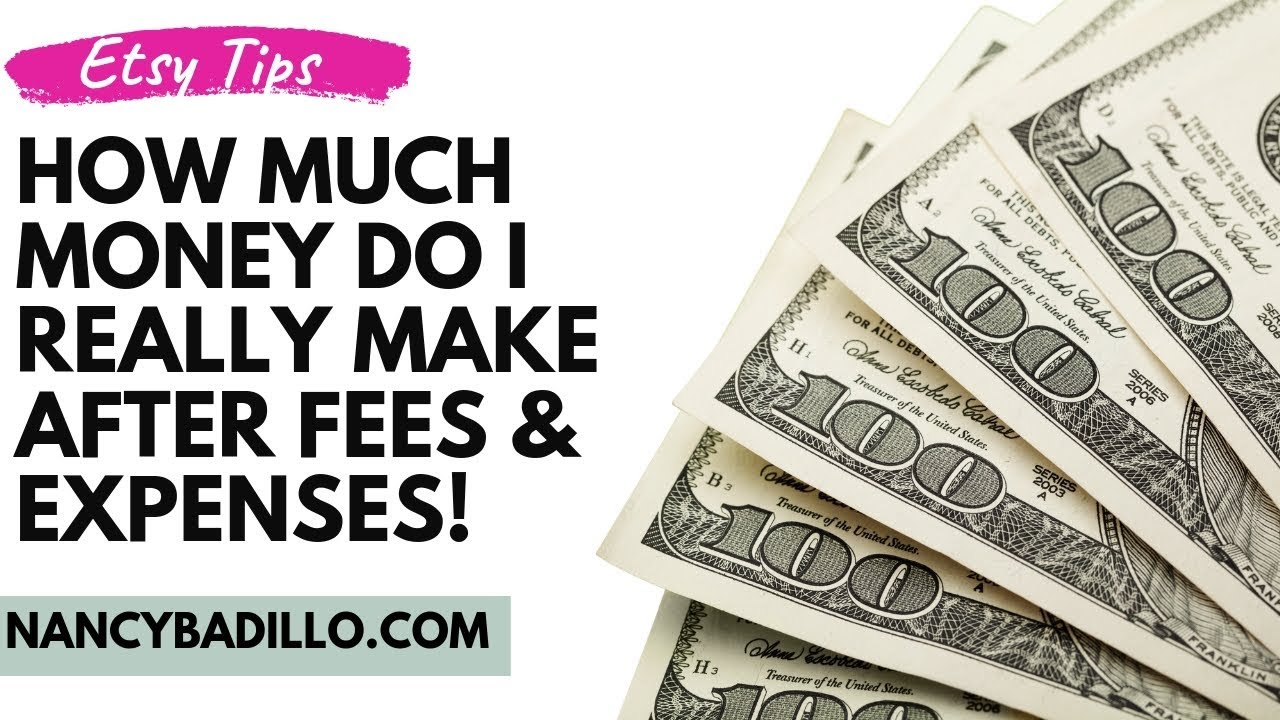 Etsy Beginners Guide - Etsy Profit | How Much MONEY Do You Make After Fees & Expenses Nancy Badi