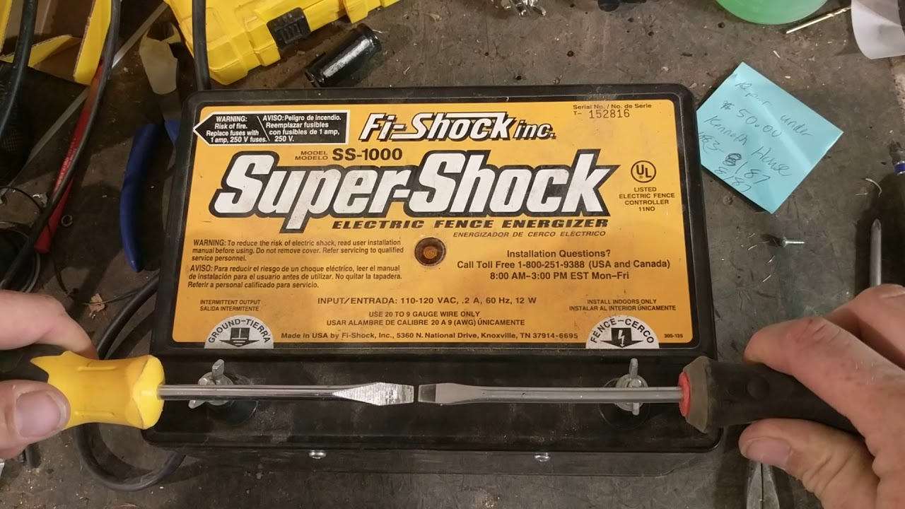 Fi Shock Fence Energizer Repair Youtube Electric Wiring Diagram Charger Schematic