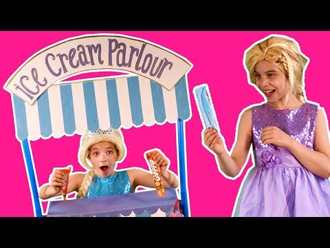 Thumbnail: PRINCESSES EAT ICE CREAM AT THE PRINCESS ICECREAM STORE Pranks Challenge Summer Fun Magic For Kids