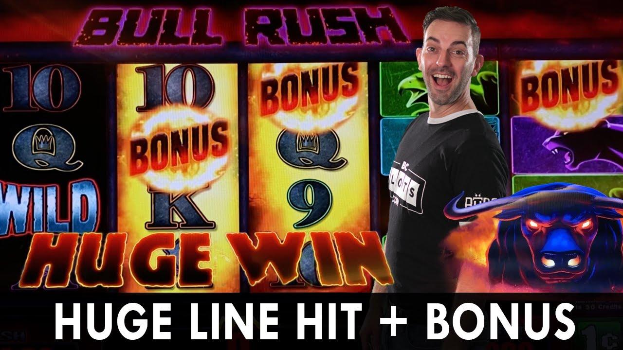 💸 HUGE Line Hit + BONUS! 🐃 Bull Rush PREMIUM SIX of a Kind 😱 FIRST EVER VISIT Sahara Las Vegas