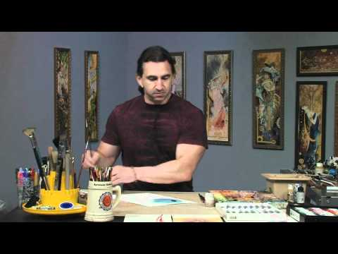 How to use Abstract Gouache Techniques