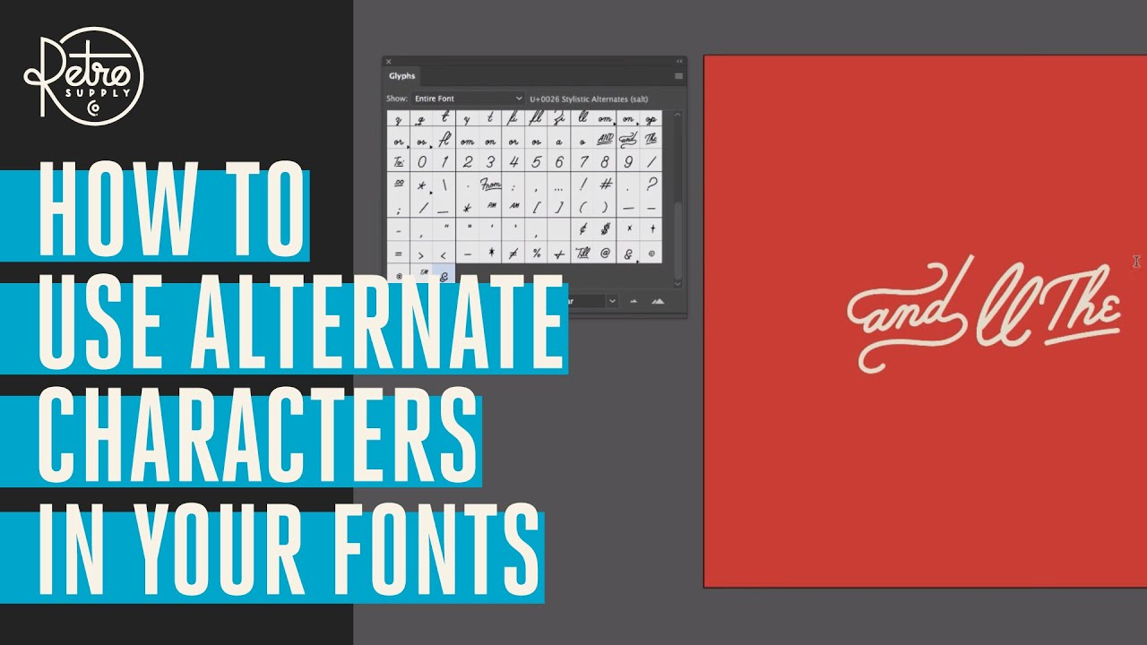 How to Use Alternate Characters in Your Fonts