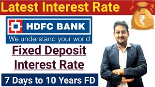 HDFC Bank | Fixed Deposit | Latest Interest Rate 2021