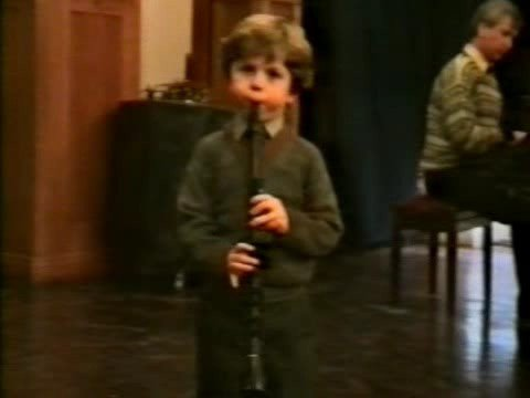 Julian Bliss (Age 4) playing The Holburg Suite-Greig and Stranger on the Shore