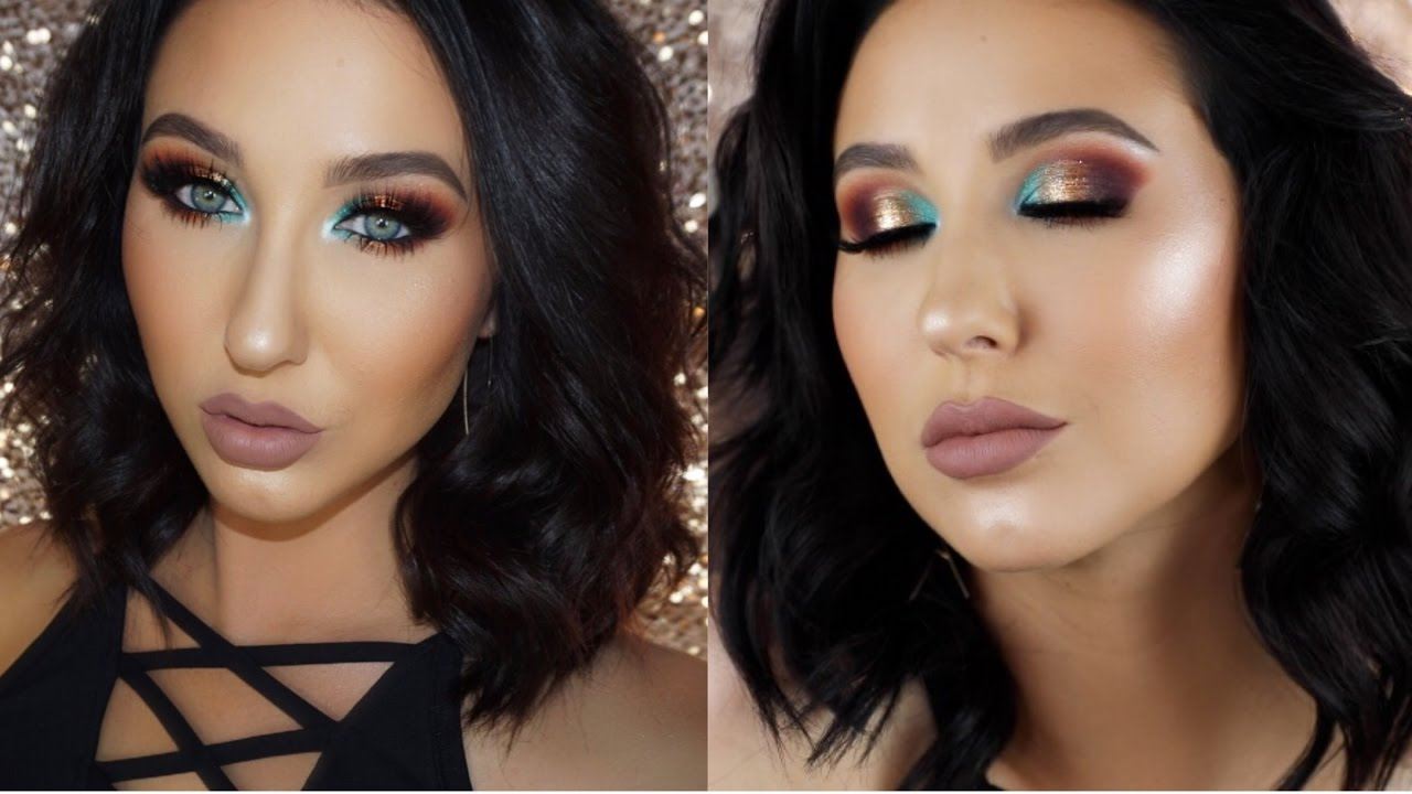 Turquoise Purple & Gold Smokey Eye | Jaclyn Hill