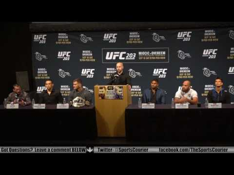 UFC 203: Miocic vs. Overeem Press Conference