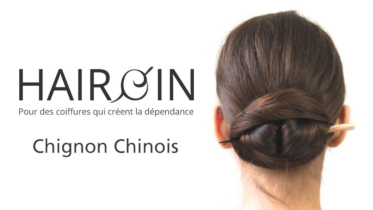 Tutoriel chignon chinois , coiffure élégante et rapide