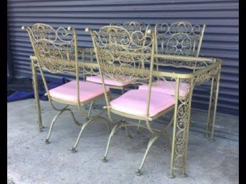 Vintage Wrought Iron Patio Furniture, Vintage Rod Iron Patio Furniture