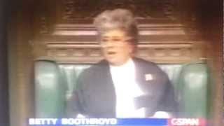 Dennis Skinner Thrown out of Commons 1993