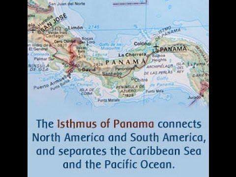 Facts About the Isthmus of Panama - YouTube on cape horn map, amazon river map, ethiopian plateau map, isthmus of suez, panama city map, pampas map, cuba map, western hemisphere map, kra isthmus, lake titicaca map, hudson bay map, tierra del fuego, panama on map, great american interchange, world map, patagonia map, gulf of honduras map, amazon basin, central american seaway, isthmus of suez map, rio grande map, brazilian highlands, isthmus of tehuantepec map, hispaniola map, baja california map, isthmus of tehuantepec, karelian isthmus, llanos map, isthmus of darien map,