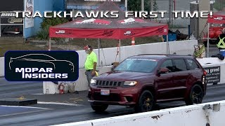 We took our Jeep Grand Cherokee Trackhawk to the Drag Strip!