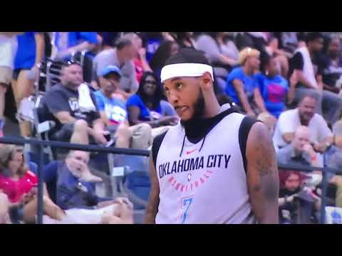 Carmelo Anthony & Paul George Highlights OKC Thunder Blue & White scrimmage 2017