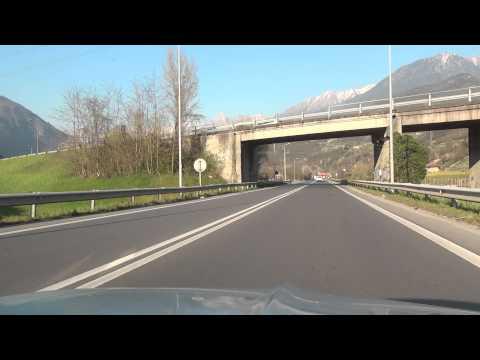 Boario Terme Gattaro Angolo Breno Niardo Losine Ceto Braone Cerveno SS 42 Italien 8.4.2015
