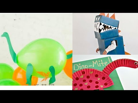 three Awesome dinosaurs crafts and costume you can do at home!!