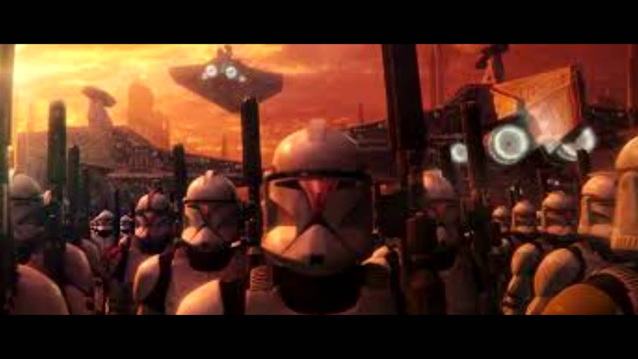 star wars clone army march youtube