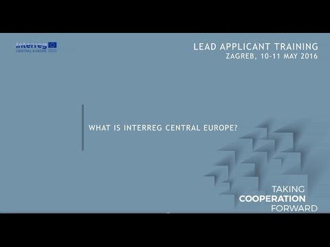 A brief introduction to Interreg CENTRAL EUROPE