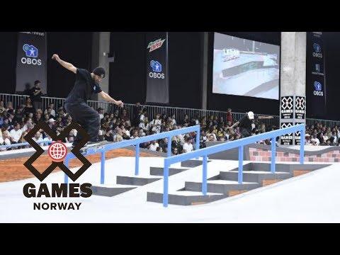 Kelvin Hoefler wins Men's Skateboard Street gold | X Games Norway 2018
