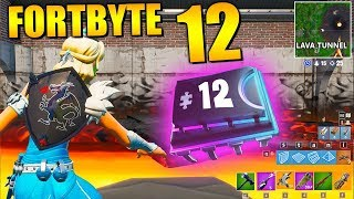 Fortnite Fortbyte 12 🍌 Nana Spray Molten Tunnel | All Fortbyte Places Season 9 Utopia Skin Deu