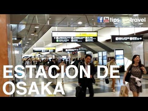 Estación de tren en Osaka, Japón (train station in Osaka Japan)