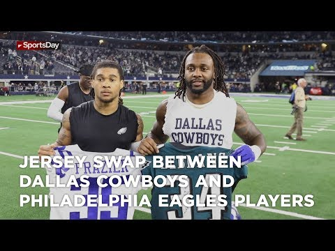 Jersey swap between Dallas Cowboys and Philadelphia eagles players