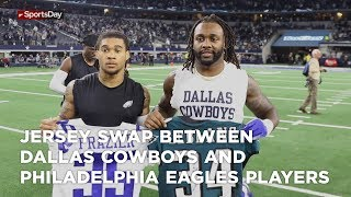 Jersey swap between Dallas Cowboys and Philadelphia eagles players thumbnail