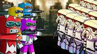 Minecraft | 5 Power Rangers vs 500 Clone Troopers! (Power Rangers Massive Mob Battles)