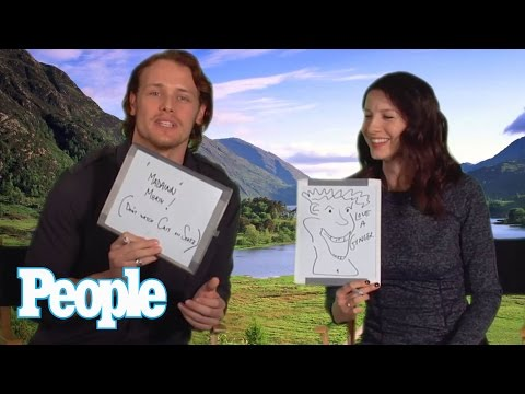 """Outlander"" Stars Sam Heughan & Caitriona Balfe Quiz Each Other 