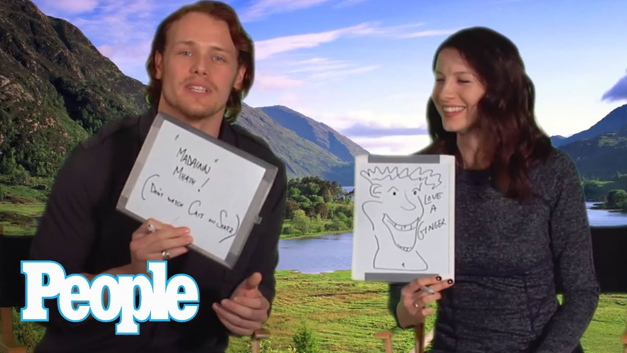 Outlander Stars Sam Heughan Caitriona Balfe Quiz Each Other People You