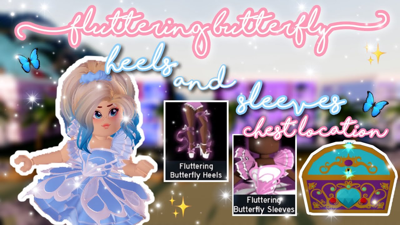 🦋 Fluttering Butterfly Heels and Sleeves + Chest Location | Royale High Update