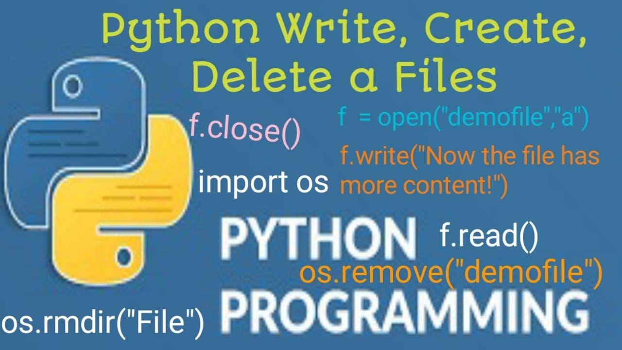 #43 Practical Python File Write, Create & Delete file   #teksolutions