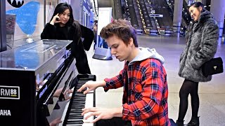 DANCE MONKEY METRO STATION PIANO PERFORMANCE LONDON
