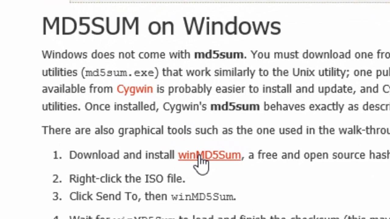 md5sum download ubuntu 16 04 LTS windows 10