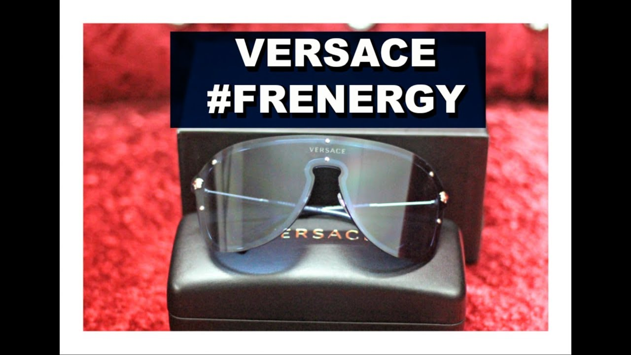 44beda184a Versace  FRENERGY Visor Sunglasses Unboxing - YouTube
