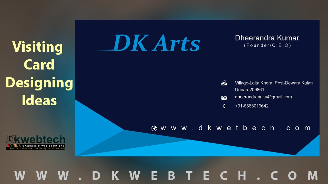 visiting card designing ideas i creative visiting cards i coreldraw in hindi - Business Card Design Ideas