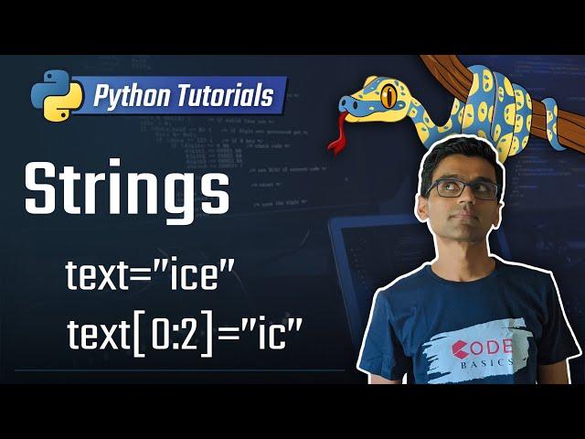 4. Strings [Python 3 Programming Tutorials]