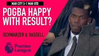 Pogba happy with the result? | Man City 3-1 Man Utd | Astro SuperSport