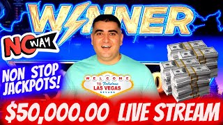 🔴$50,000 High Limit Live Stream Slot Play & NON STOP HANDPAY JACKPOTS | The Power Of NG SLOT