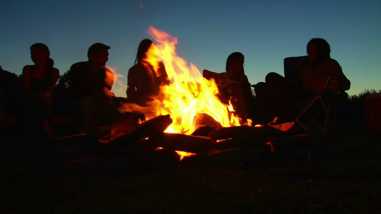 silhouettes of people sitting around campfire youtube ...