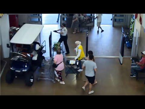 LiveLeak Florida man drives golf cart into Walmart as deputies chase