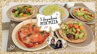 Healthy Pita Pizzas With 5 Ingredients, Done 5 Ways! Collaboration With Kitchy Kitchen!